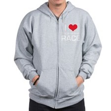 I Love The Amazing Race Zip Hoodie