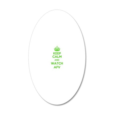 Keep Calm and Watch AFV 20x12 Oval Wall Decal