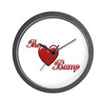 The Love Bump Wall Clock