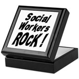 Social Workers Rock ! Keepsake Box