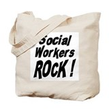 Social Workers Rock ! Tote Bag