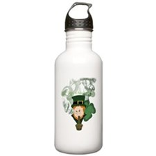 Smoking Leprechaun Water Bottle