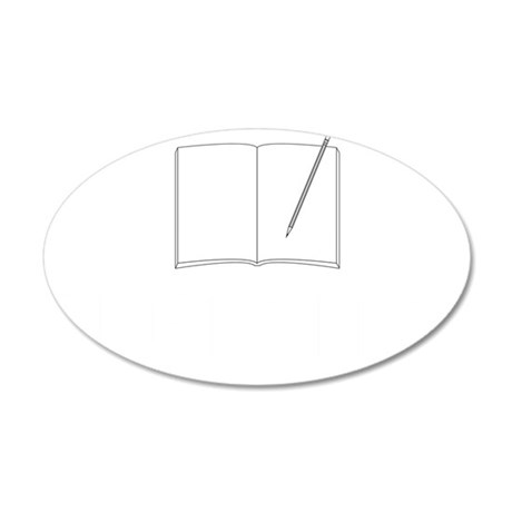 Original blog-white 35x21 Oval Wall Decal