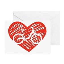 Bicycle Heart Greeting Card