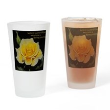 Lemon Custard Rose Trinket Box Drinking Glass