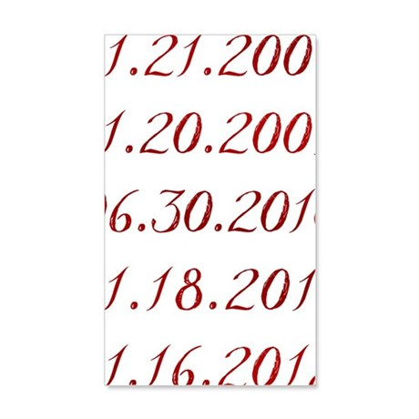 Dates 35x21 Wall Decal