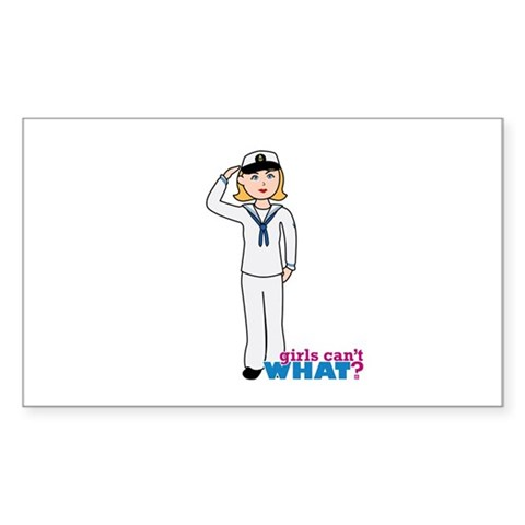 Navy Woman Dress Whites Decal