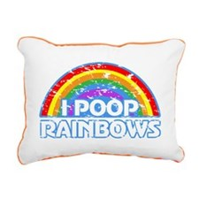 I Poop Rainbows Rectangular Canvas Pillow