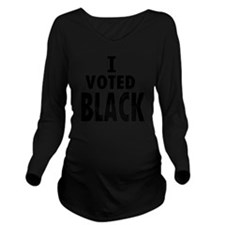 Obama Wins I Voted B Long Sleeve Maternity T-Shirt