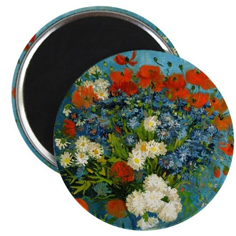 Vase with Cornflowers and Poppies Magnet