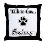 Greyhound Talk Throw Pillow