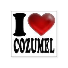 """I Heart Cozumel Square Sticker 3"""" x 3"""""""