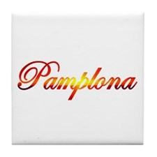 Pamplona, Spain Tile Coaster