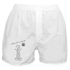 US Route 66 Get Your Kicks Cities Boxer Shorts