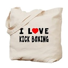 I Love Kick Boxing Tote Bag