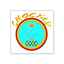 "CHOCTAW Square Sticker 3"" x 3"""