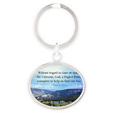 God and Universe Conspires Mug Oval Keychain