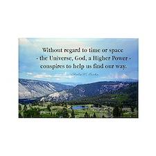 God and Universe Conspires Mug Rectangle Magnet