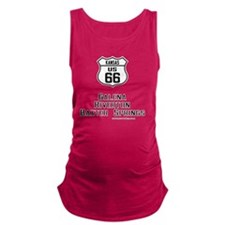 US Route 66 Kansas Cities Maternity Tank Top