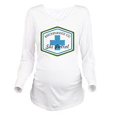 Breckenridge Ski Pat Long Sleeve Maternity T-Shirt