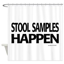 stool samples happen Shower Curtain