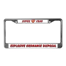 Super EOD Crab License Plate Frame