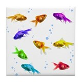 Rainbow Fish Tile Coaster