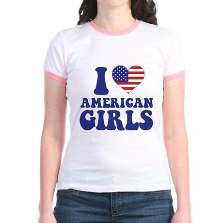 Love American Girls Jr. Ringer T-Shirt