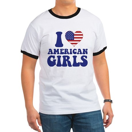 Love American Girls Ringer T