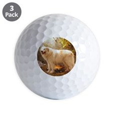 Great Pyrenees Shower Curtain - Alazon Golf Ball