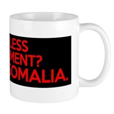 want less government move to somalia Mug