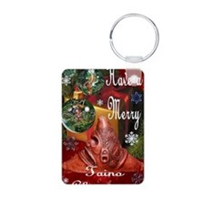 NEW TAINO CHRISTMAS CARD 5 Keychains