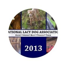 "2013 Lacy Dog Wall Calendar 3.5"" Button"