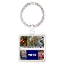 2013 Lacy Dog Wall Calendar Square Keychain