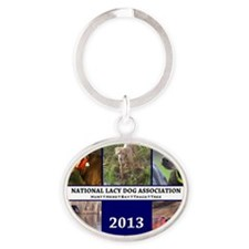 2013 Lacy Dog Wall Calendar Oval Keychain
