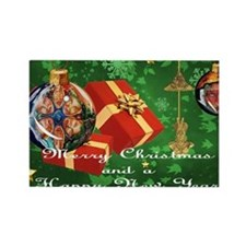 NEW TAINO CHRISTMAS CARD 3 Rectangle Magnet