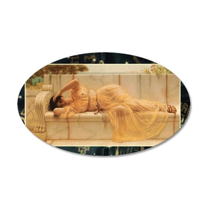 John William Godwards Girl i 35x21 Oval Wall Decal