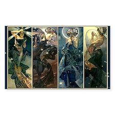 Alphonse Muchas Star, Night, M Decal
