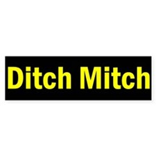 Ditch Mitch Bumper Sticker - Yellow