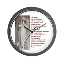 The Lords Prayer Wall Clock