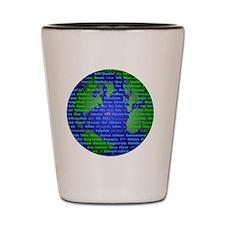 Peace On Earth Hindi Shot Glass