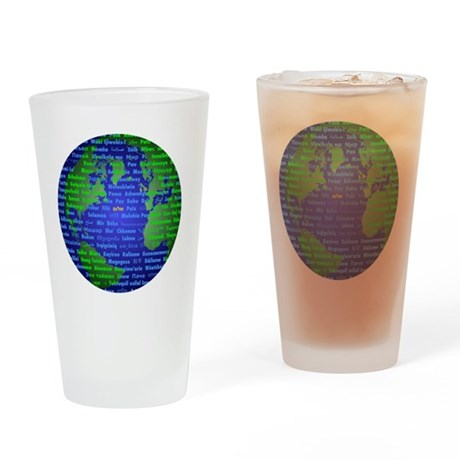 Peace On Earth Hebrew Drinking Glass
