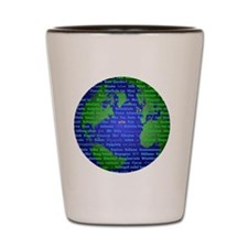 Peace On Earth Hebrew Shot Glass
