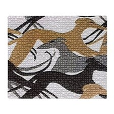 Leaping Hound Bucket Bag Throw Blanket