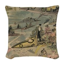 Steam Punk Future Small Pillow Woven Throw Pillow