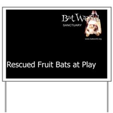 fruit bats at play cover Yard Sign
