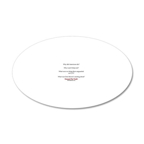 Benghazi Questions 20x12 Oval Wall Decal