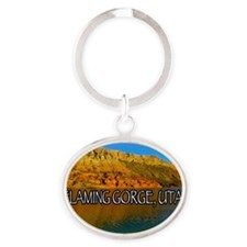 FLAMING GORGE, UTAH Oval Keychain
