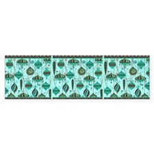 Green Tint Ornaments Bumper Sticker