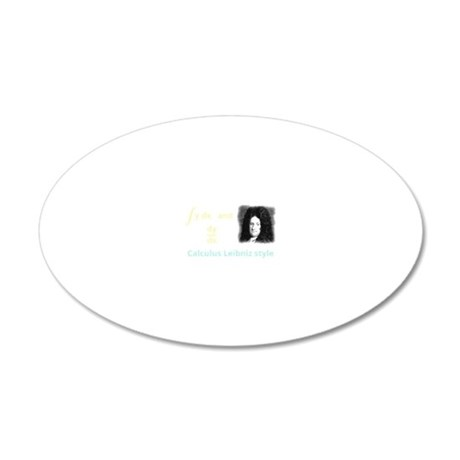 Calculus Leibniz style 20x12 Oval Wall Decal